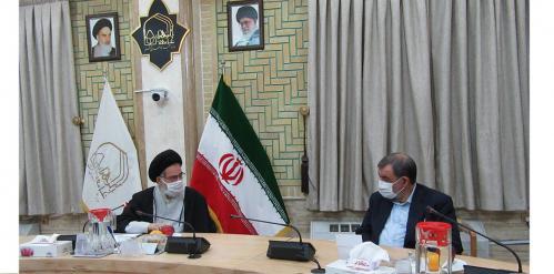 جلسه محسن رضایی با مدیر جامعه الزهرا
